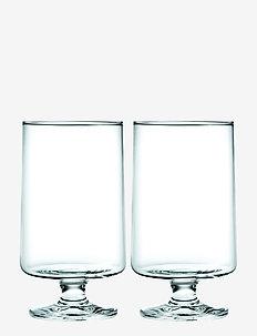 Stub Glass 36 cl 2 stk. - vannglass - clear