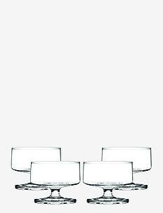 Stub Champagne/Dessert Bowl 20 cl 4 stk. - champagneglass - clear