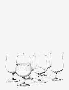 Bouquet Vannglass 38 cl 6 stk. - vannglass - clear