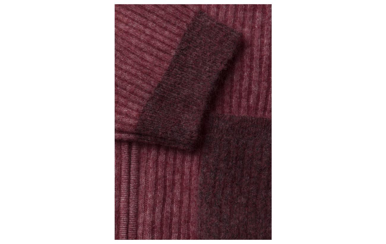Holzweiler 5 Laine Kidmohair Cardigan Penguin Knit 27 Melange Nylon Elastane 34 Red ARASq