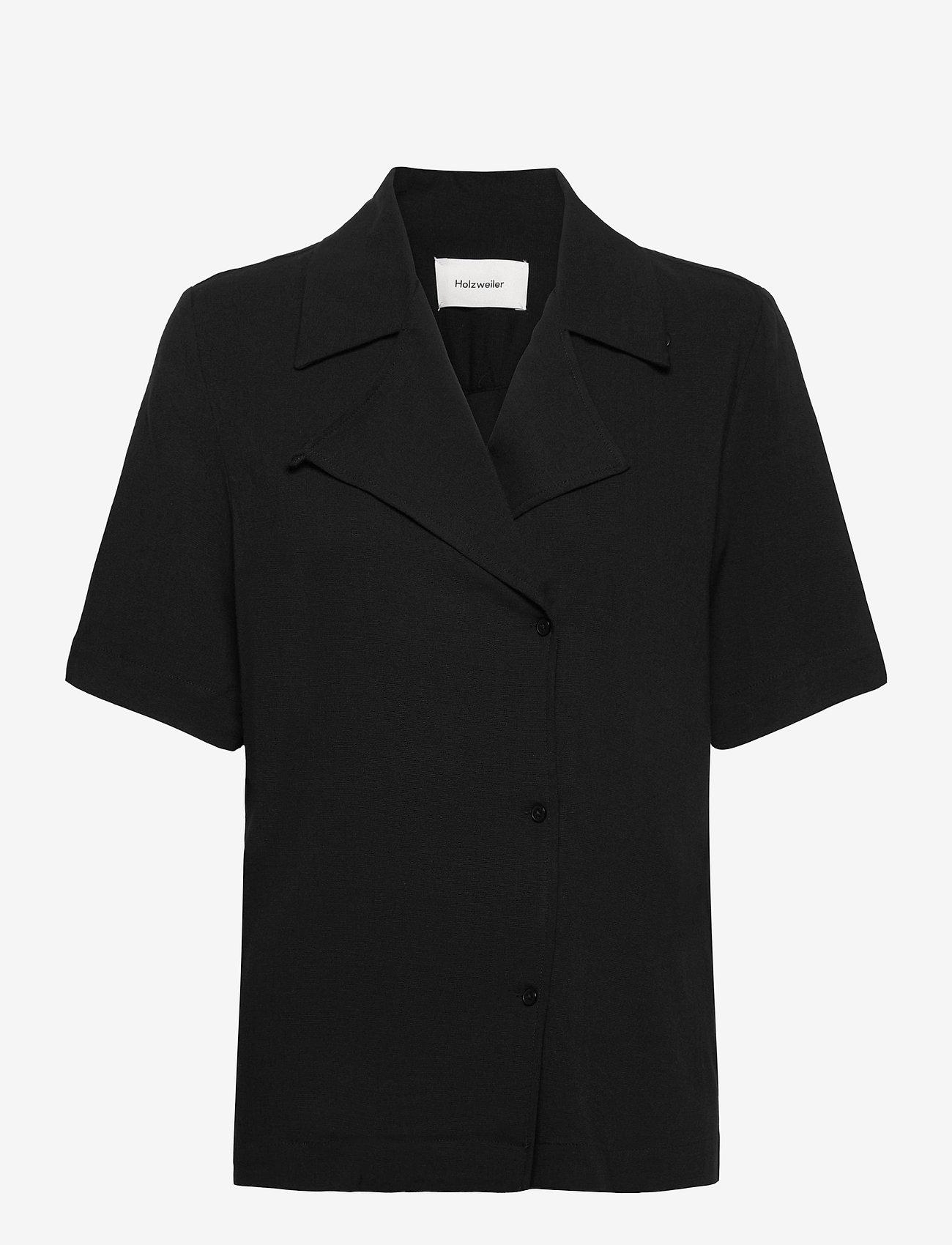 HOLZWEILER - Borger Shirt1 - short-sleeved blouses - black - 0