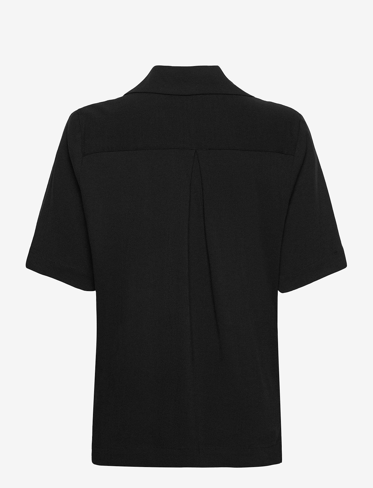 HOLZWEILER - Borger Shirt1 - short-sleeved blouses - black - 1