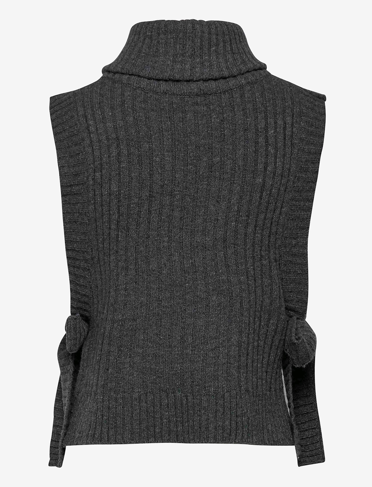 HOLZWEILER - Hafjell Knit Bib - knitted vests - charcoal - 1