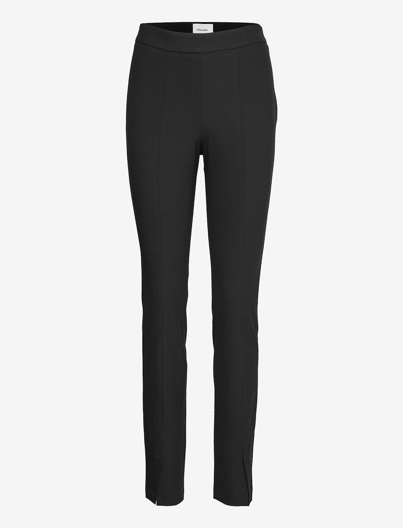 HOLZWEILER - Sira Black Trouser - slim fit bukser - black - 1