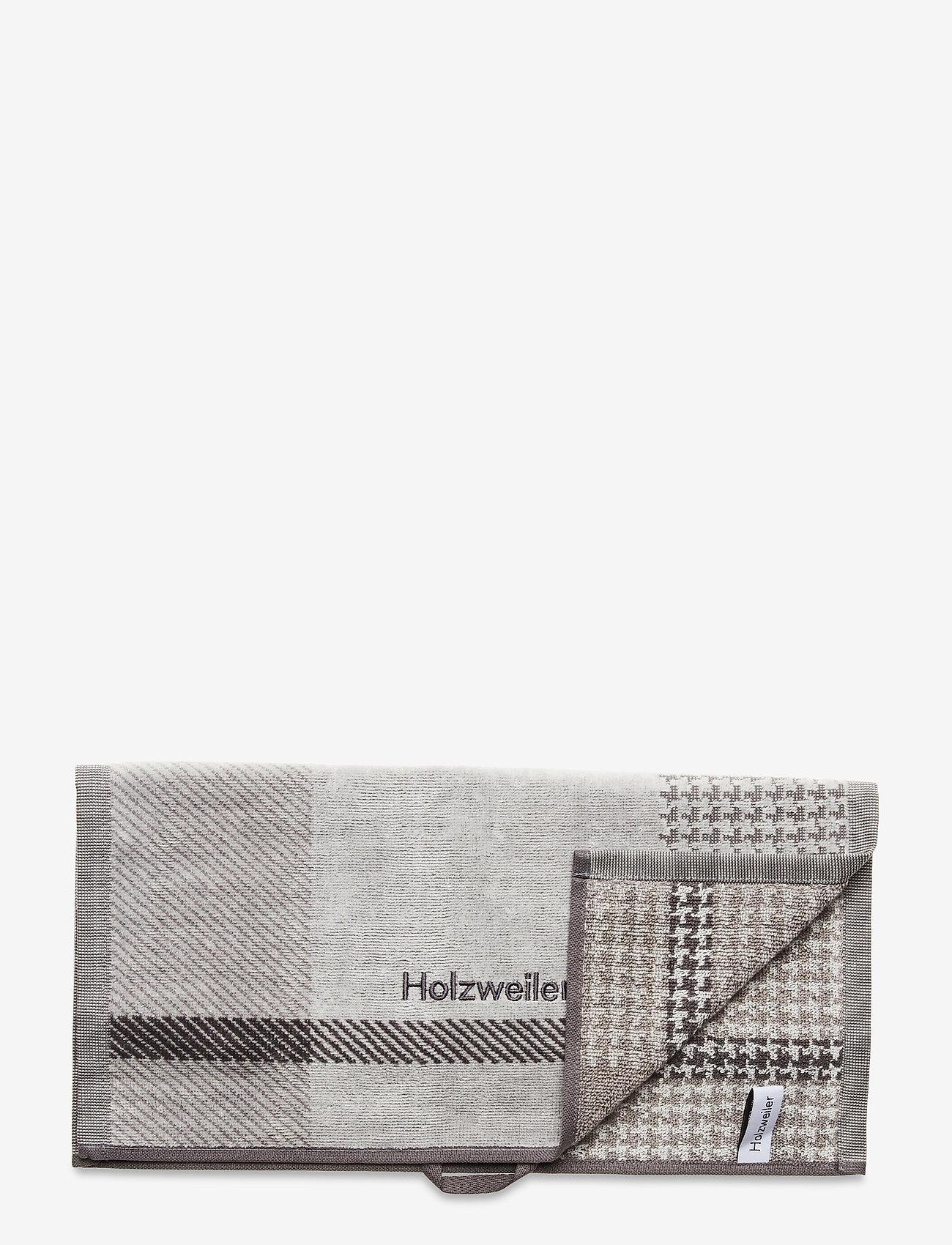 HOLZWEILER - Holzweiler Towel 40x70 - stroje plażowe - grey check - 0