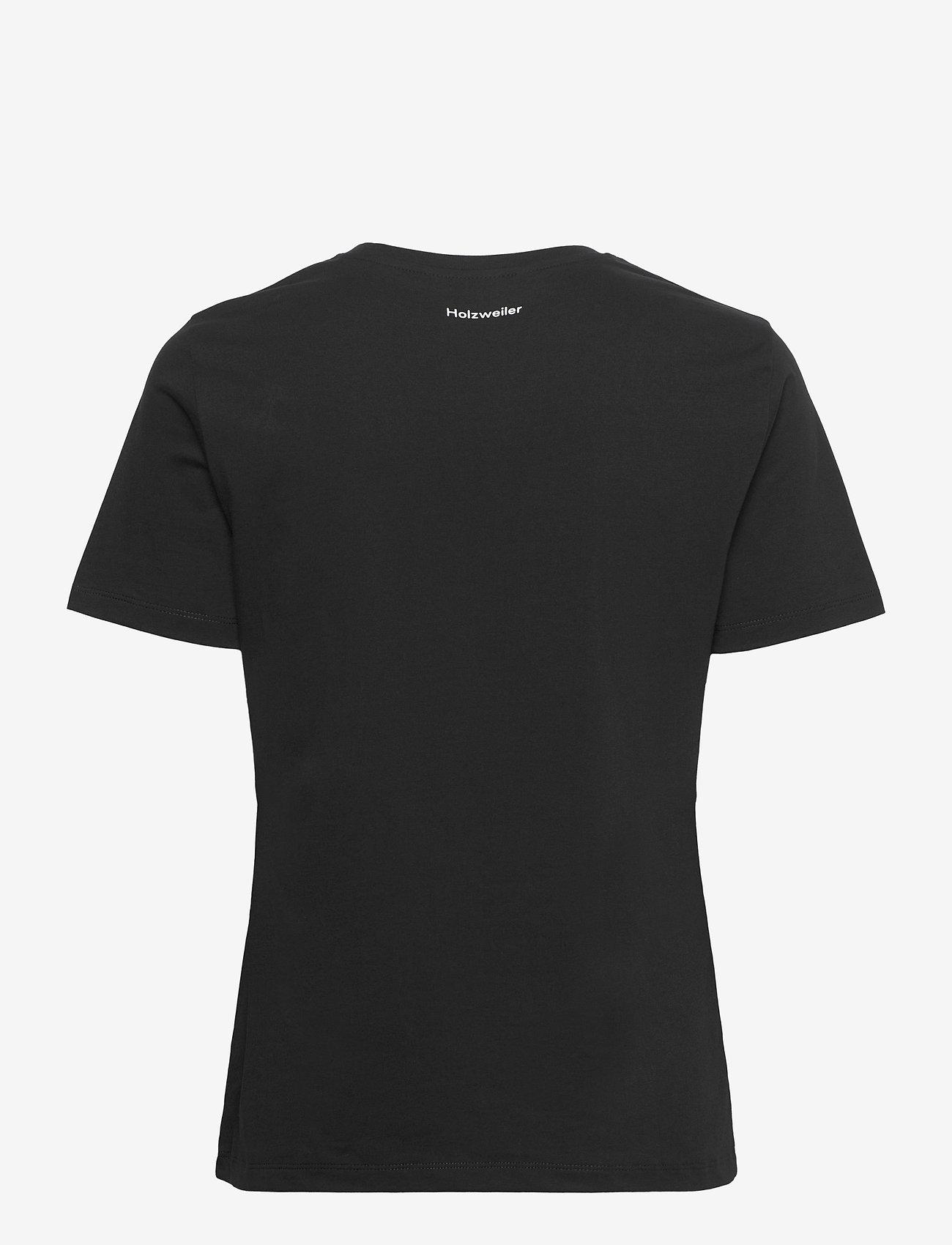 HOLZWEILER - Suzana Classic Tee - t-shirts - black - 1