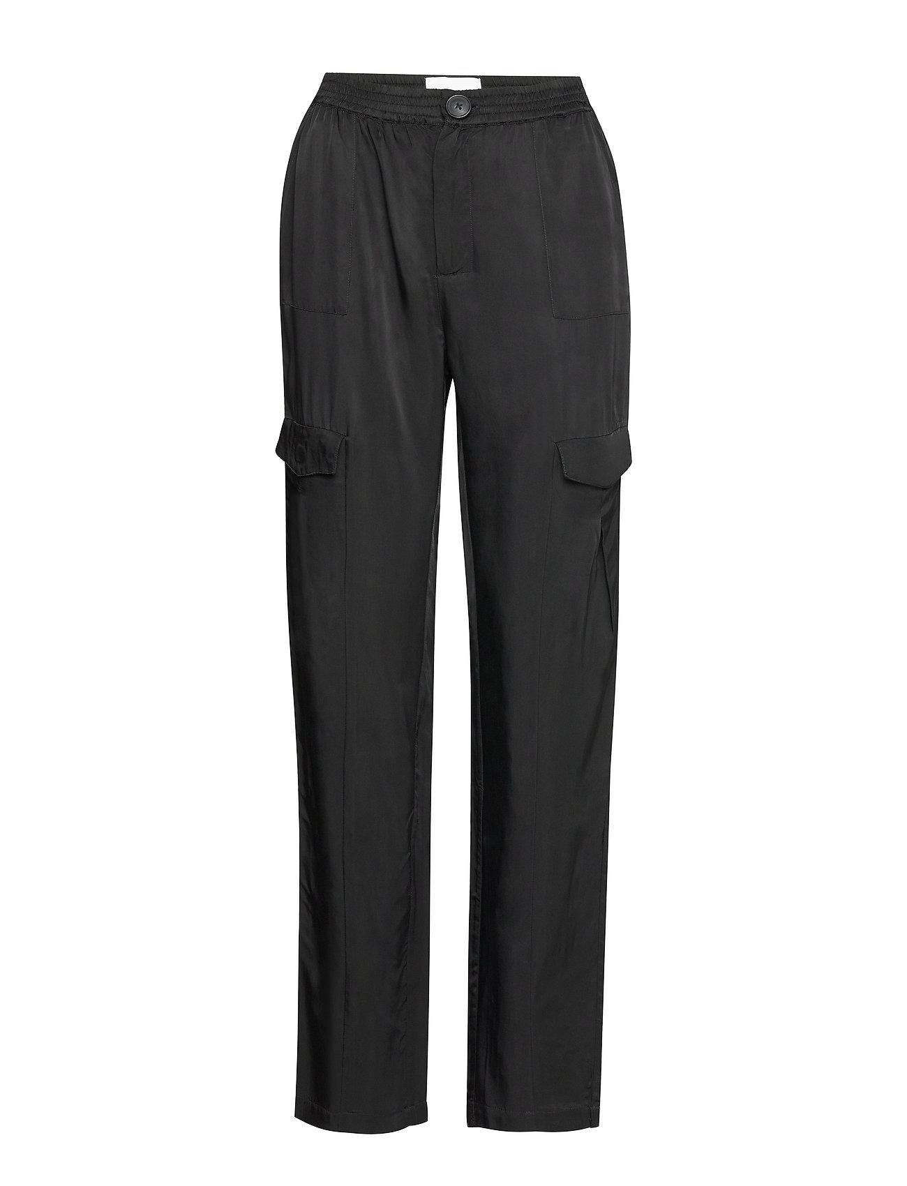 Image of Ombo Trousers Bukser Med Lige Ben Sort HOLZWEILER (3304138191)