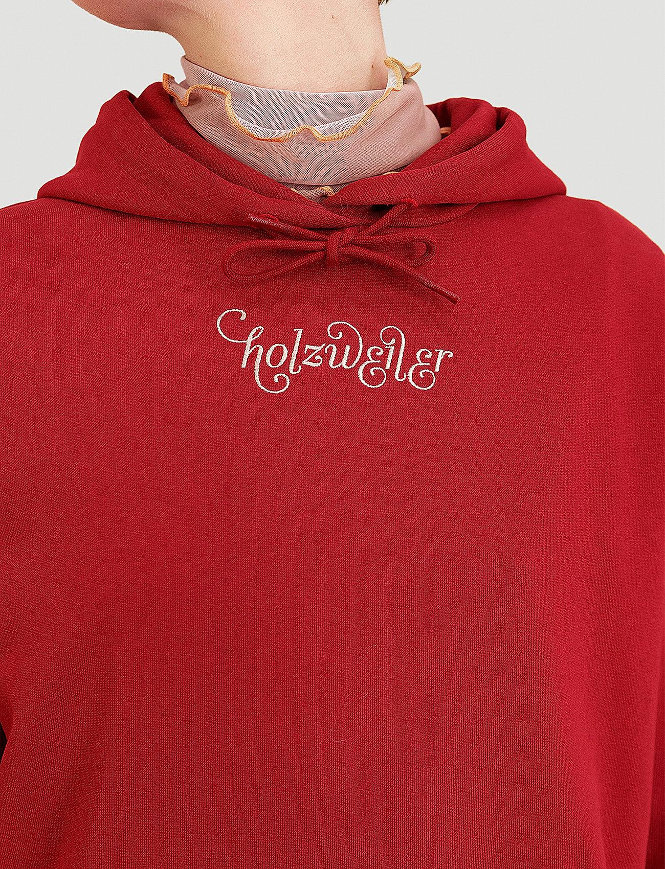 HOLZWEILER - Placebo Print Hoodie - sweatshirts & hættetrøjer - burgundy flower print - 0