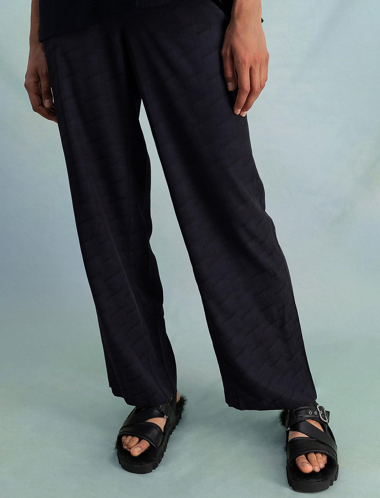 HOLZWEILER - Luka Trouser - bukser med brede ben - black text - 0