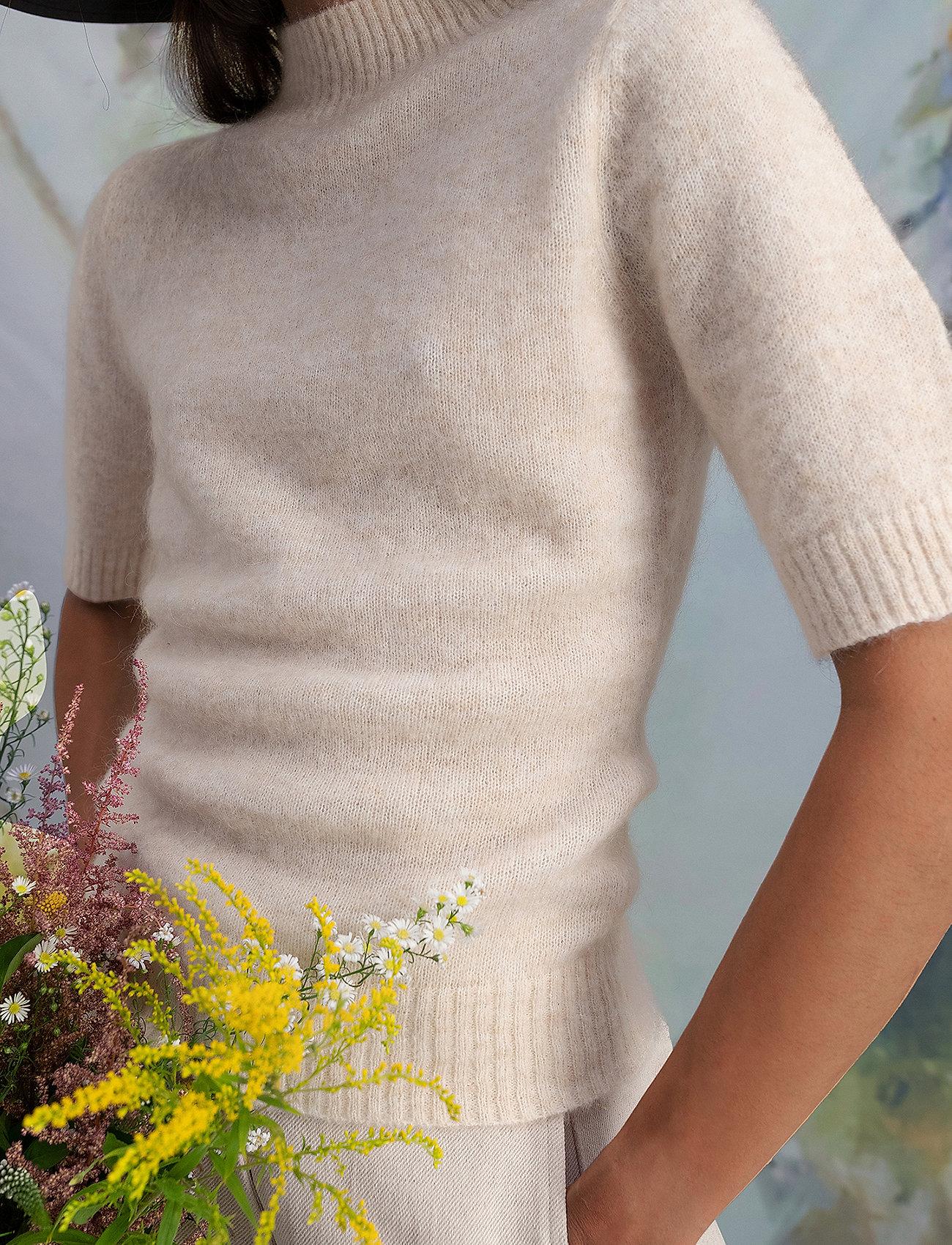 HOLZWEILER - Puff Knit Tee - strikkede toppe - ecru - 0