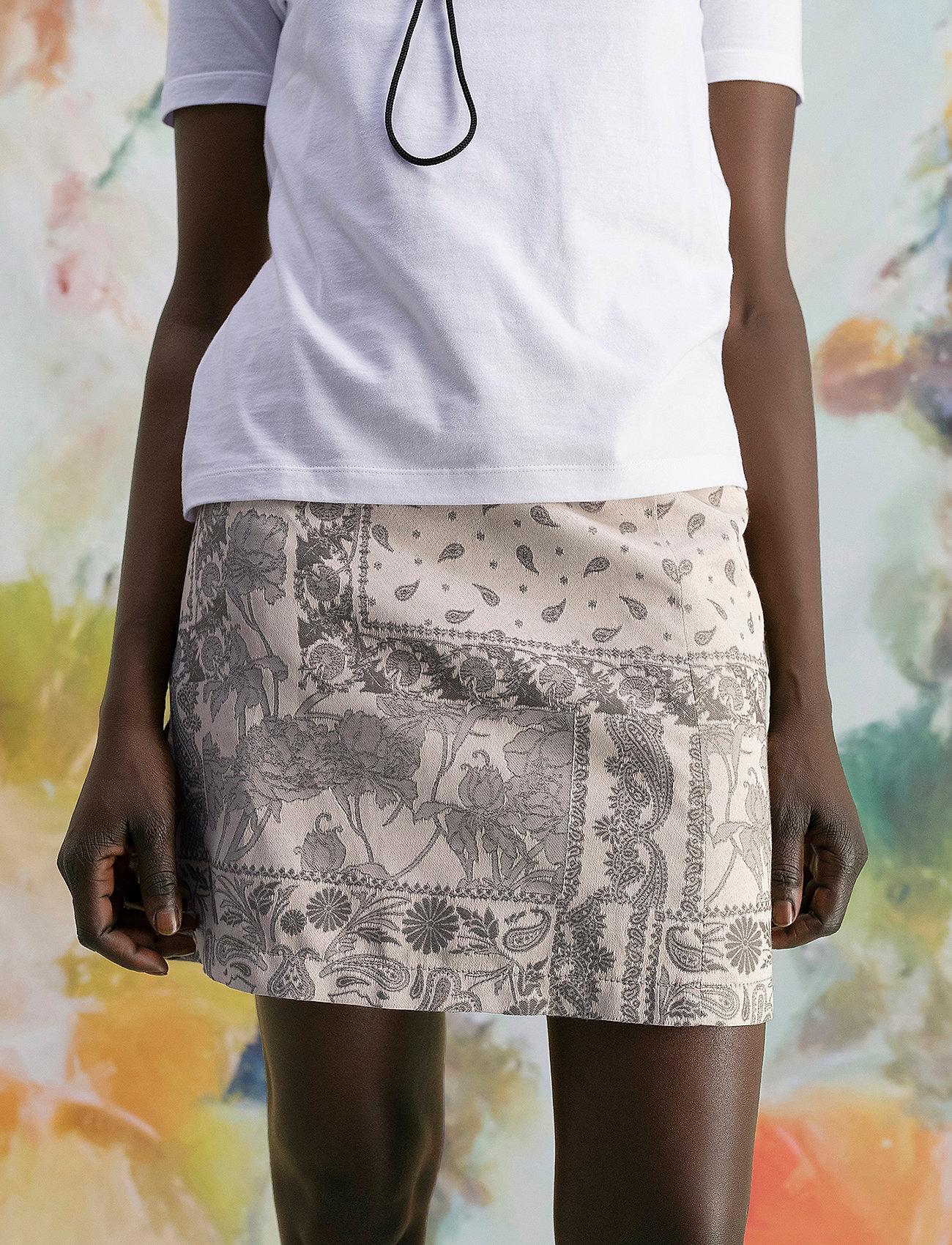 HOLZWEILER - Belle Brocade Skirt - korta kjolar - dk. green mix - 0