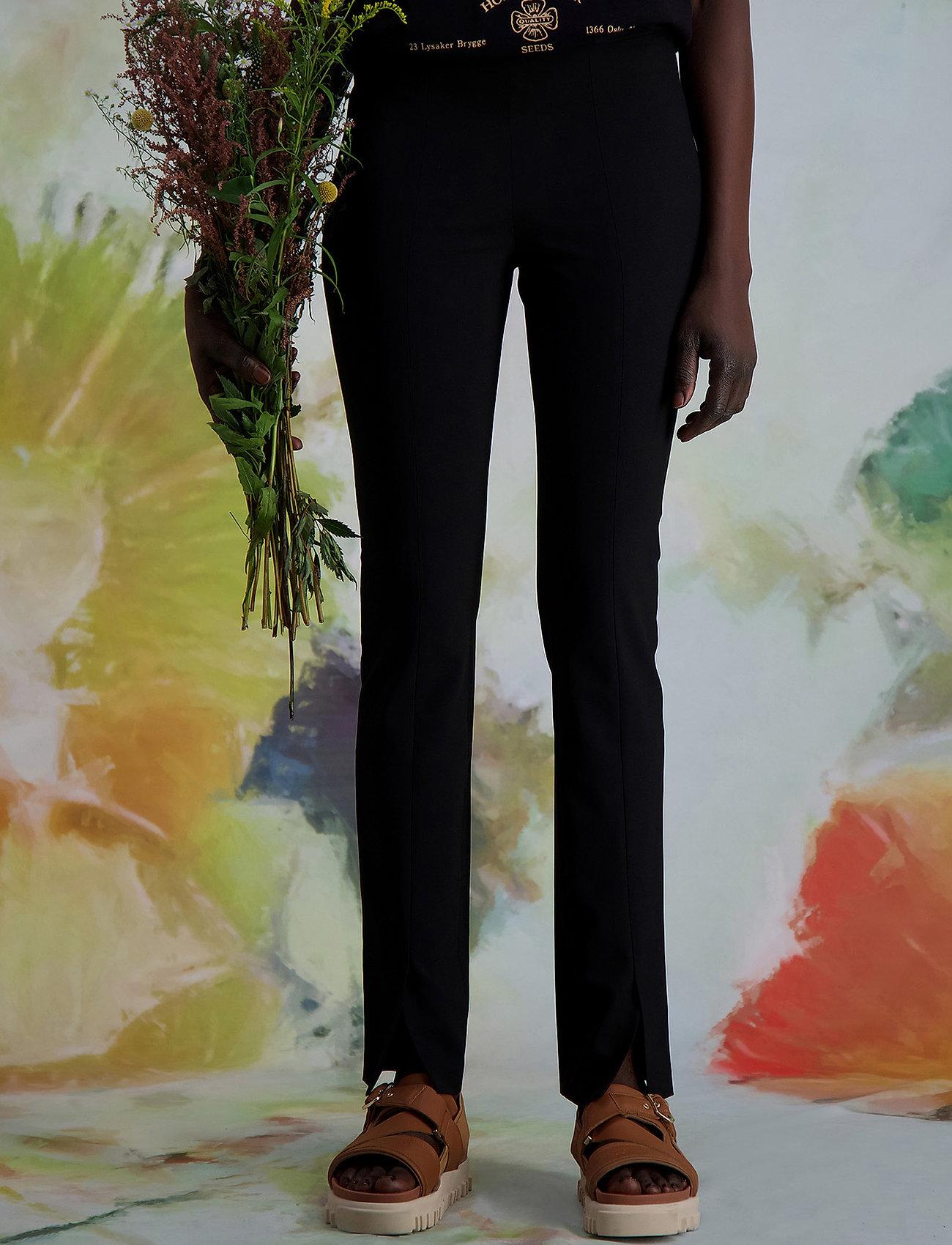 HOLZWEILER - Sira Black Trouser - slim fit bukser - black - 0