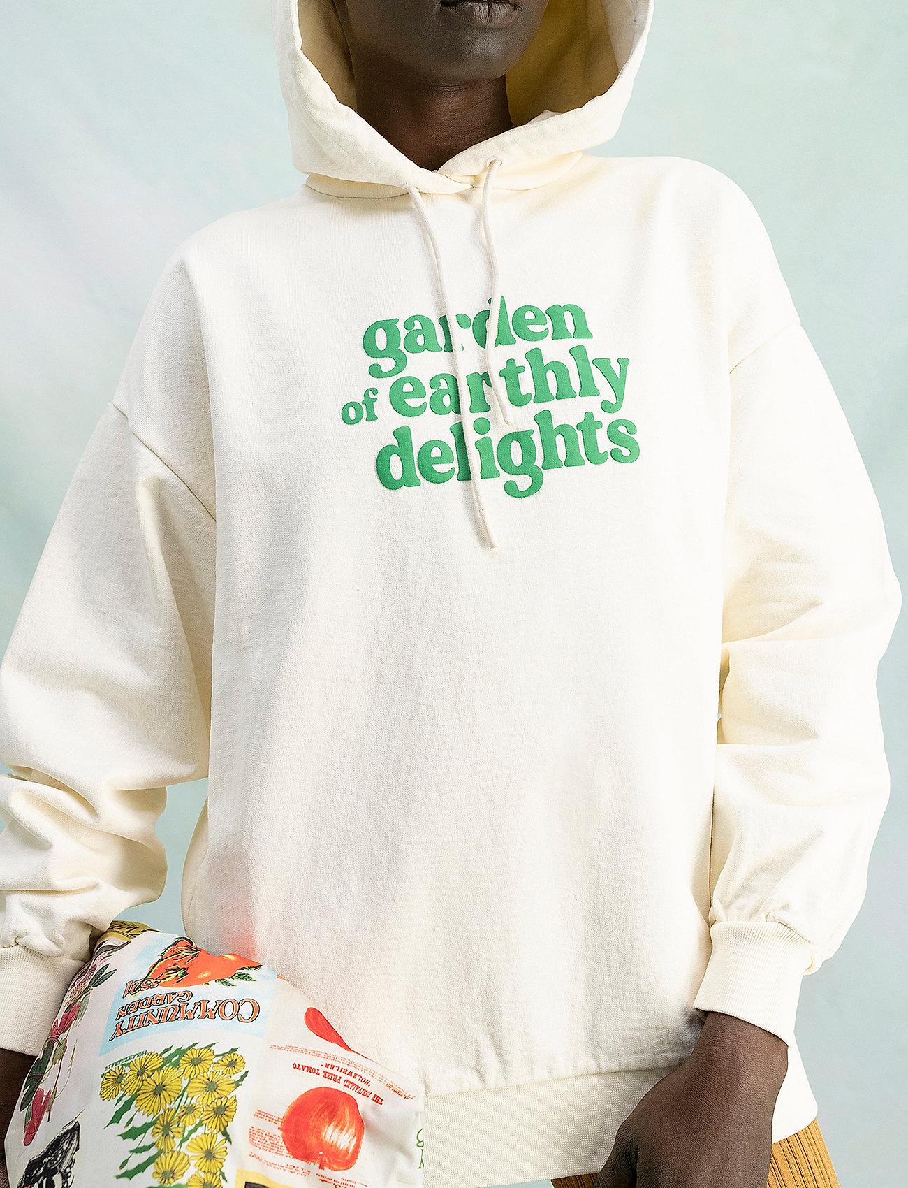 HOLZWEILER - Placebo Print Hoodie - sweatshirts & hættetrøjer - ecru - 0