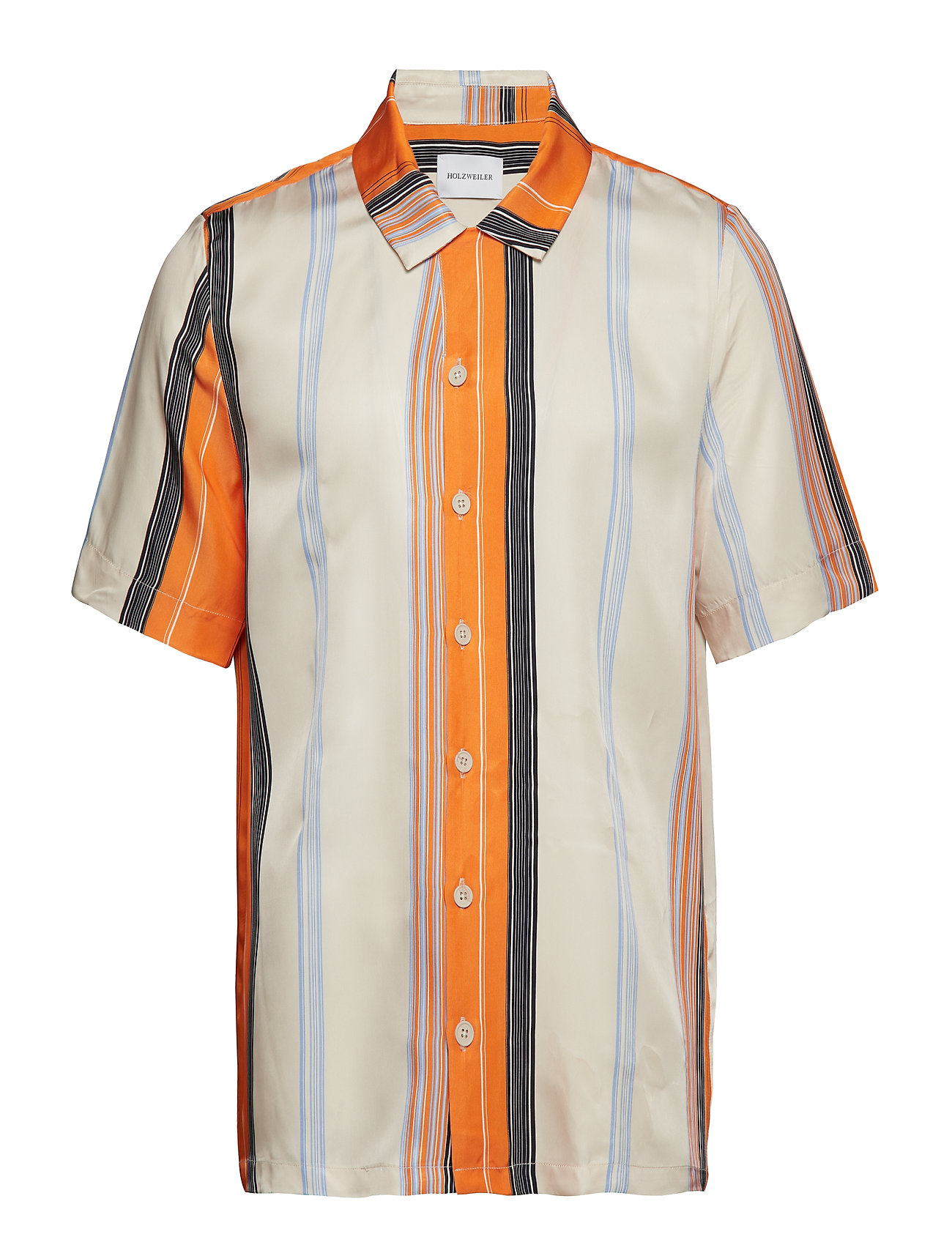HOLZWEILER BOXY Shirt Short Sleeve - ORANGE STRIPE