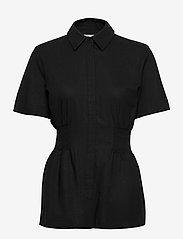 HOLZWEILER - Svale Shirt - short-sleeved shirts - black - 0