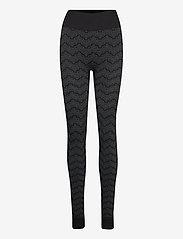 HOLZWEILER - Monogram Tights - leggings - black - 0