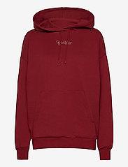 HOLZWEILER - Placebo Print Hoodie - sweatshirts & hættetrøjer - burgundy flower print - 1