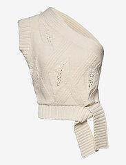 HOLZWEILER - Beagle Knit Vest - strikkede toppe - ecru - 1