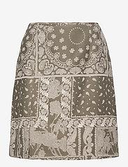 HOLZWEILER - Belle Brocade Skirt - korta kjolar - dk. green mix - 1