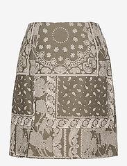 HOLZWEILER - Belle Brocade Skirt - korta kjolar - dk. green mix - 2
