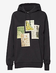 Placebo Print Hoodie - BLACK GARDEN PATCHES
