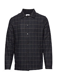 Wolf Shirt - NAVY CHECK
