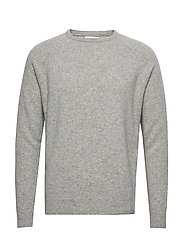 Scurfy Knit sweater - LIGHT GREY