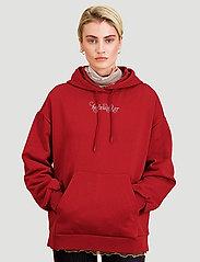 HOLZWEILER - Placebo Print Hoodie - sweatshirts & hættetrøjer - burgundy flower print - 4