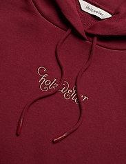 HOLZWEILER - Placebo Print Hoodie - sweatshirts & hættetrøjer - burgundy flower print - 5