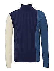 LUIGI Knit - BLUE BLOCKED