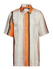 BOXY Shirt Short Sleeve - ORANGE STRIPE