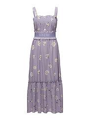 FRU STEEN Print Dress - DAISY LAVENDER
