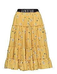 AMMEN Print Skirt - LOVE YELLOW