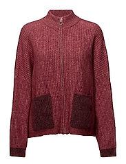 PENGUIN Knit Cardigan - RED MELANGE