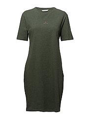 SWAN T-Shirt Dress - GREEN MELANGE