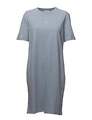 SWAN T-Shirt Dress - LT BLUE MELANGE