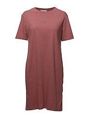 SWAN T-Shirt Dress - RED MELANGE