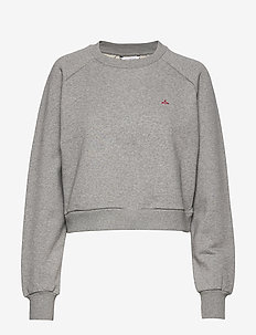 Croppy Sweat - GREY MELANGE