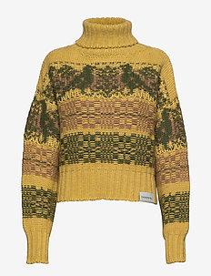 Cropped Knit - golfy - bird yellow