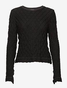 Skarn Diamond Top - pitkähihaiset t-paidat - black