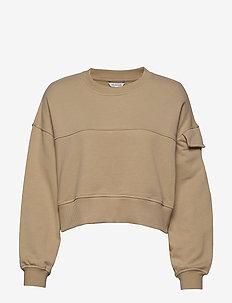 Laserlys Crew Sweat - sweatshirts - beige