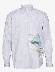 Habitt Toyenbadet shirt - casual shirts - blue stripe