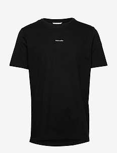 Identity Tee - basic t-shirts - blk with wht logo