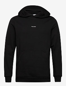 Identity Hoodie - basic sweatshirts - blk with wht logo