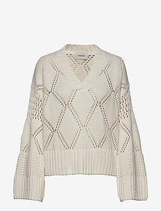 Hiet Knit Sweater - neulepuserot - ecru