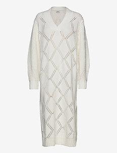 Fossveien Knit Dress - sukienki dzianinowe - ecru