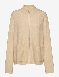 Penguin Knit Cardigan - cardigans - light yellow