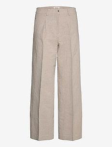 Bolette Trouser1 - pantalons larges - sand