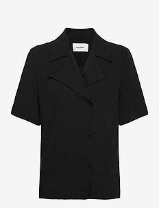 Borger Shirt1 - short-sleeved blouses - black