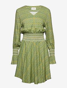 Stien Dress - lyhyet mekot - green print small